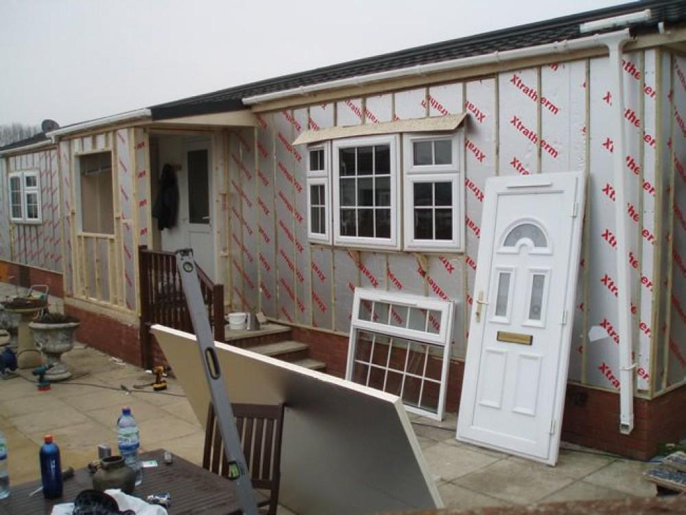 Park Home Refurbishment Traditional Textured External